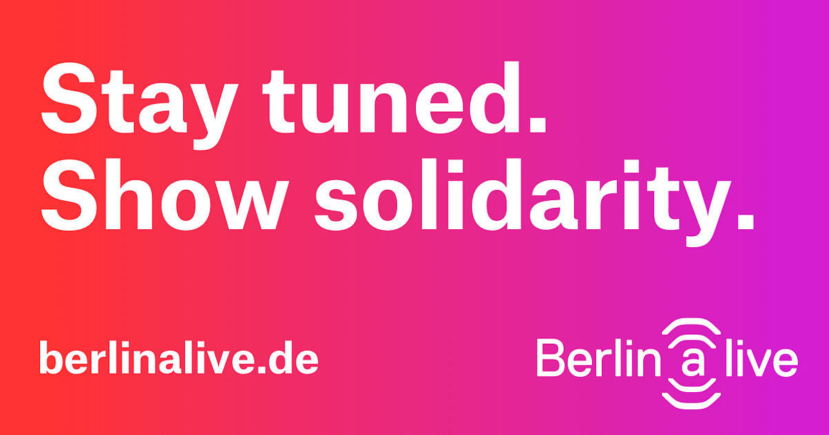 Livestreams für kulturelle Events aus Berlin - Berlin (a)live
